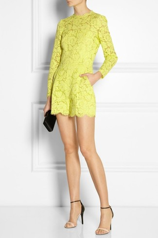59bec2a2b5de ... Women s Yellow Lace Playsuit