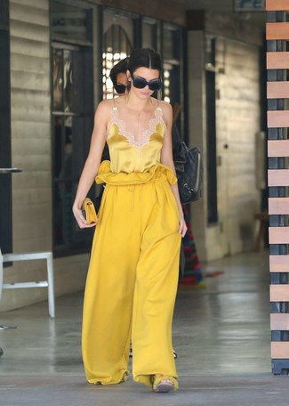 This pairing of a yellow silk tank and 3.1 Phillip Lim Wool Drawstring Waist Wide Leg Pants will set you apart effortlessly. If you're on a mission for a season-appropriate outfit to prove you're the bomb, this one fits the task well.