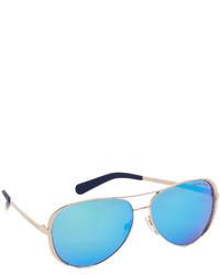 Lunettes de soleil bleues Michael Kors