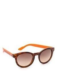 Lunettes de soleil brunes Gucci