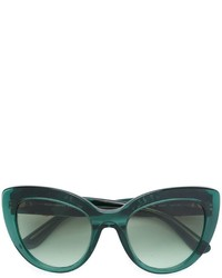 Lunettes de soleil vert foncé Dolce & Gabbana