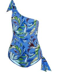 Maillot de bain une pièce imprimé bleu Emilio Pucci
