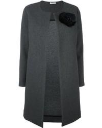 Manteau à fleurs gris foncé P.A.R.O.S.H.