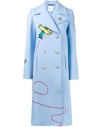 Manteau bleu clair Mira Mikati