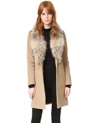 Manteau brun clair SAM.