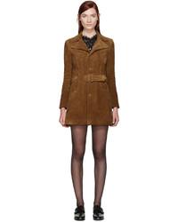 Manteau brun Saint Laurent