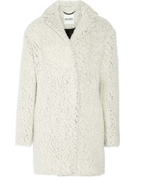 Manteau de fourrure blanc Kenzo