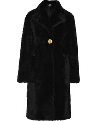 Manteau de fourrure noir Balenciaga