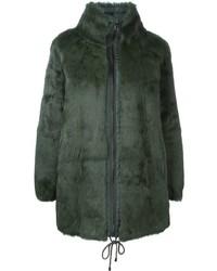 Manteau de fourrure vert foncé P.A.R.O.S.H.