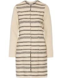 Manteau en tricot brun clair Tory Burch