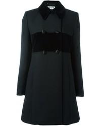 Manteau en velours noir Saint Laurent