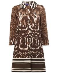 Manteau imprimé brun Herno