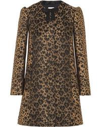 Manteau imprimé léopard brun clair RED Valentino