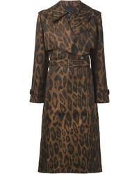Manteau imprimé léopard brun Lanvin