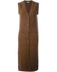 Manteau sans manches marron P.A.R.O.S.H.
