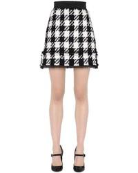 Minifalda a Cuadros Blanca y Negra de Dolce & Gabbana