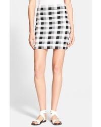 Minifalda a Cuadros Blanca y Negra de Theory