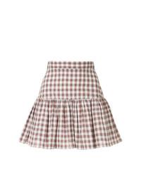 Minifalda a cuadros blanca de Macgraw