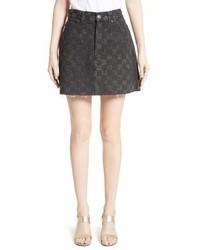 Minifalda a Cuadros en Gris Oscuro de Marc Jacobs