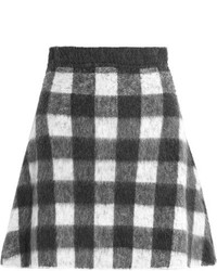 Minifalda a Cuadros Negra y Blanca de Balenciaga