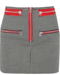 Minifalda a Cuadros Negra y Blanca de Isabel Marant