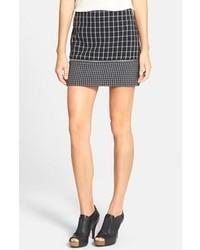 Minifalda a Cuadros Negra y Blanca de MICHAEL Michael Kors