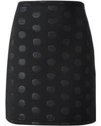 Minifalda a lunares negra
