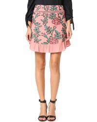 Minifalda bordada rosada de For Love & Lemons