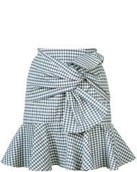 Minifalda celeste de Veronica Beard