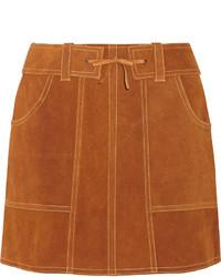 Minifalda de ante en tabaco de Anna Sui