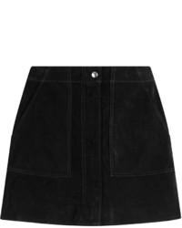 Minifalda de ante negra