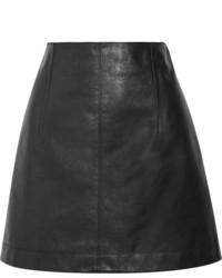Minifalda de cuero negra de Chloé