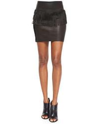 Minifalda de cuero negra de IRO