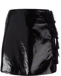 Minifalda de cuero negra de Kenzo