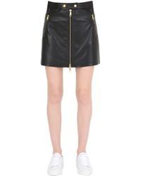 Minifalda de cuero negra de Tommy Hilfiger