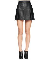 Minifalda de cuero plisada negra de Proenza Schouler