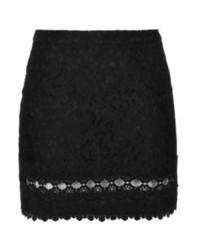 Minifalda de encaje negra