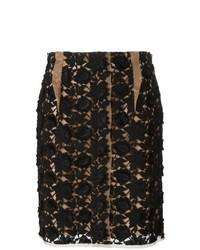 Minifalda de encaje negra de Lanvin