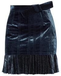 Minifalda de gasa azul marino de 3.1 Phillip Lim
