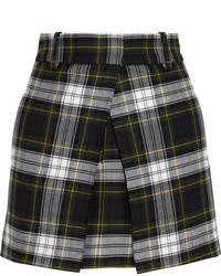 Minifalda de Lana a Cuadros Negra y Blanca de MCQ