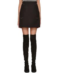 Minifalda de lana negra de 3.1 Phillip Lim