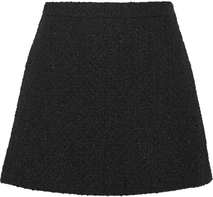 Minifalda de Lana Negra de Gucci  dónde comprar y cómo combinar e06e512531