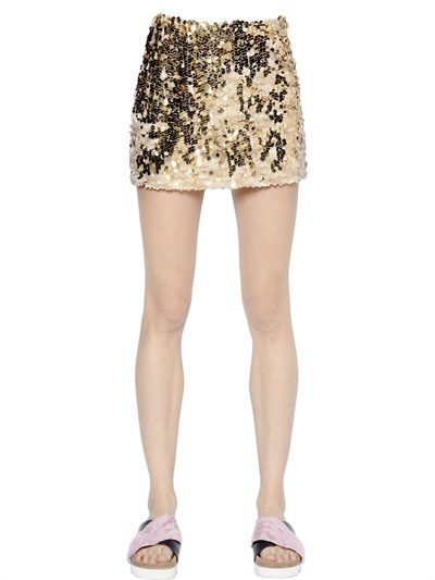 ... Minifalda de lentejuelas dorada de Simonetta Ravizza ... bfab0d40f315