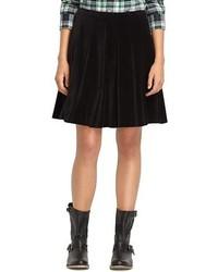 Minifalda de terciopelo negra