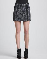 Minifalda de tweed en gris oscuro de A.L.C.