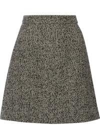 Minifalda de tweed en gris oscuro de Dolce & Gabbana
