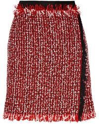 Minifalda de Tweed Roja de Lanvin
