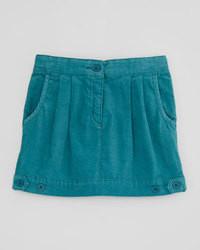 Minifalda en verde azulado