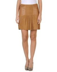 Minifalda marrón claro