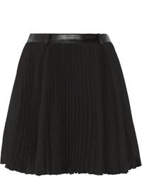 Minifalda plisada negra
